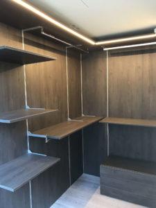 Progettazione e produzione cabine armadio su misura Milano e provincia